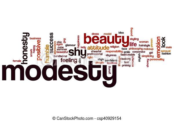Modesty word cloud - csp40929154