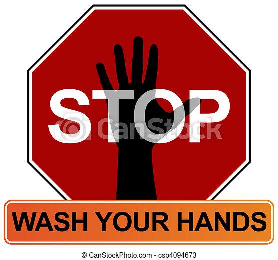 Hand Washing Sign - csp4094673