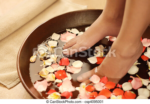 Foot spa and aromatherapy - csp4095001