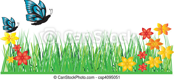 grass flower butterfly - csp4095051
