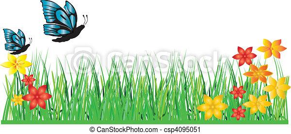 grass flower butterfly - csp4095051