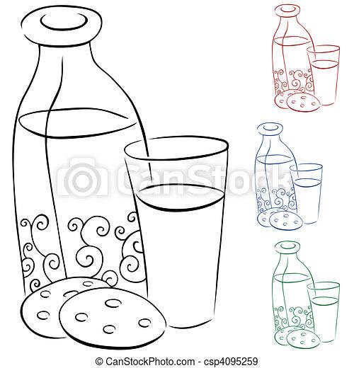 Milk and Cookies - csp4095259