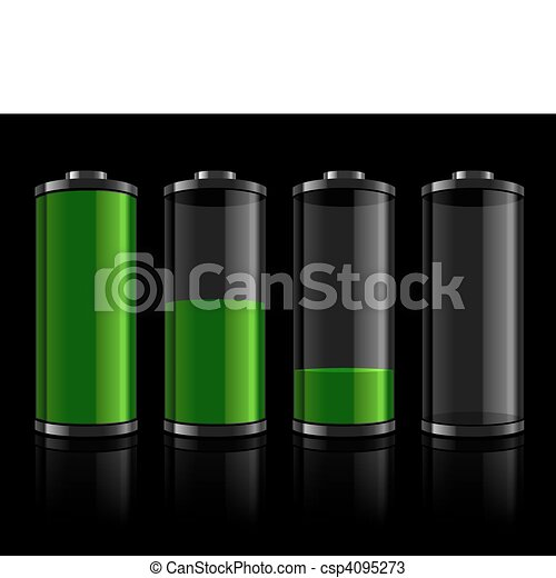 Battery levels set - csp4095273