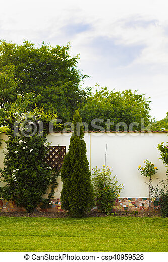 image with a flower garden at home