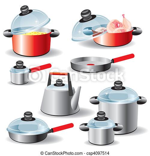 Eps vector de utensilios cocina conjunto de cocina for Utensilios de cocina logo