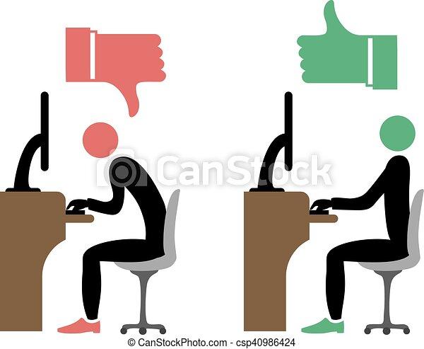 correct back sitting - csp40986424