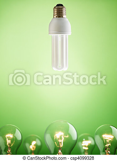 closeup of fluorescent light bulb - csp4099328