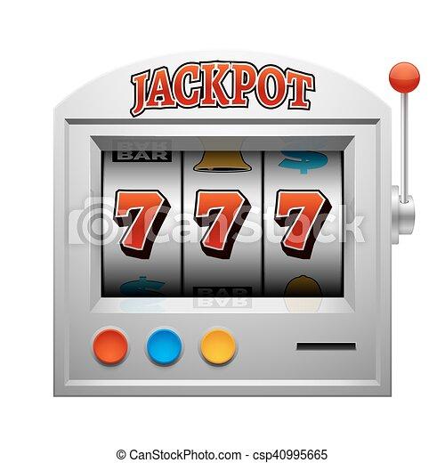 Casino slot gambling machine vector lucky and win concept - csp40995665