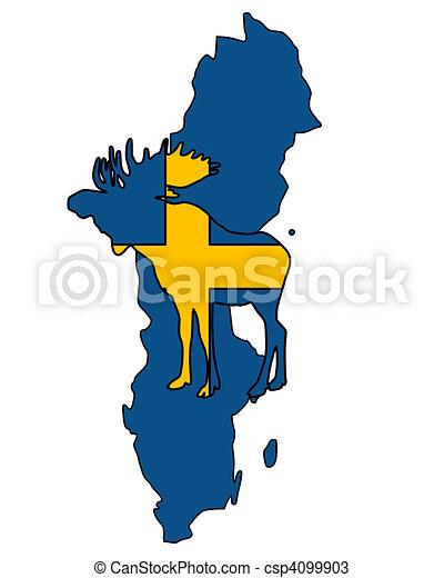Swedish moose - csp4099903