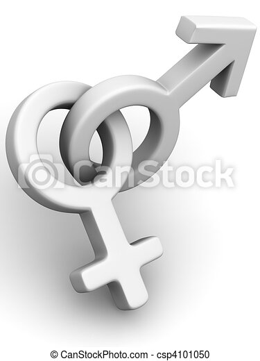 Symbol Men and Women. Love - csp4101050