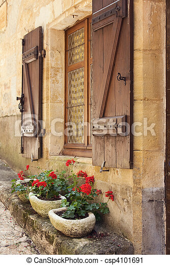 Mediterranean window boxes - csp4101691