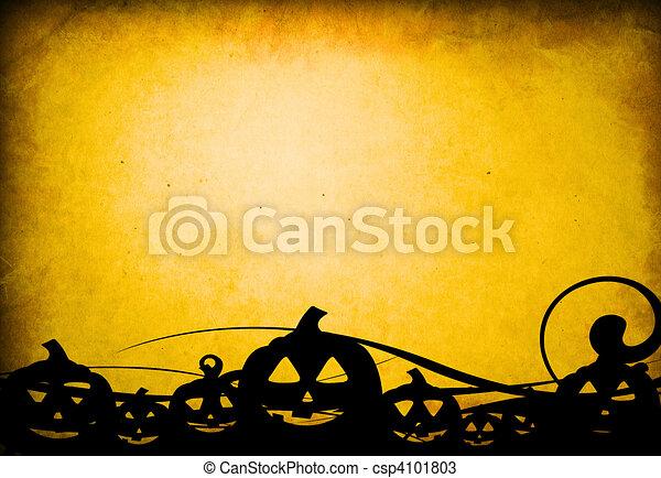 Halloween pumpkins with pumpkin friends - csp4101803
