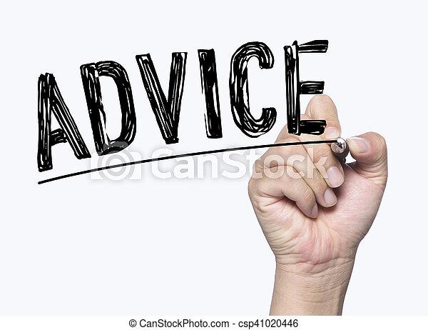 advice written by hand - csp41020446