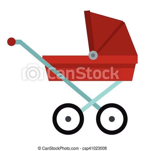 Vektor clipart von wohnung stil kinderwagen ikone for Meine wohnung click design download