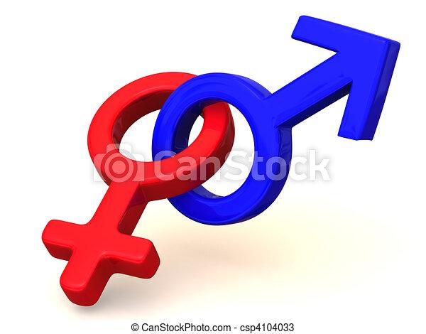 Dibujos de símbolo, hombres, mujeres, amor, 3D csp4104033 - Buscar ...