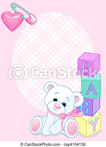 Baby pink arrival card - csp4104139