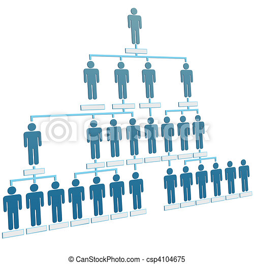 Organization corporate hierarchy chart company people - csp4104675