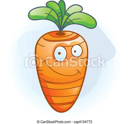 Carrot Smiling - csp4104773
