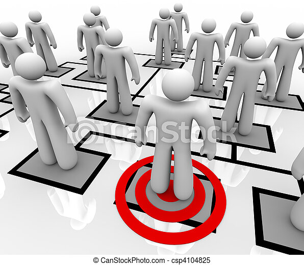Targeted Employee in Organizational Chart - csp4104825