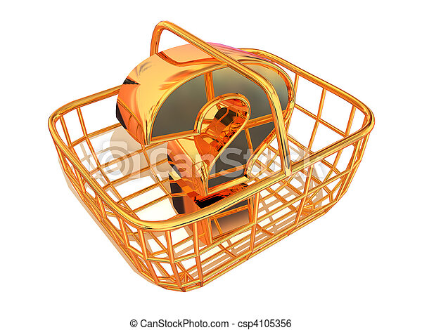 Consumer's basket with question - csp4105356