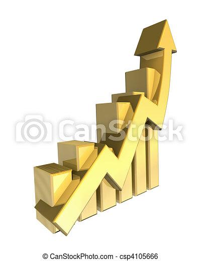 Statistics graphic in gold  - csp4105666