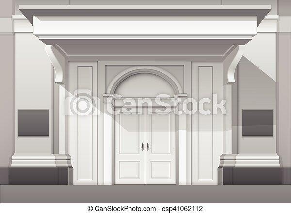 Store Doors Clipart vector clip art of vector classic shop museum boutique building