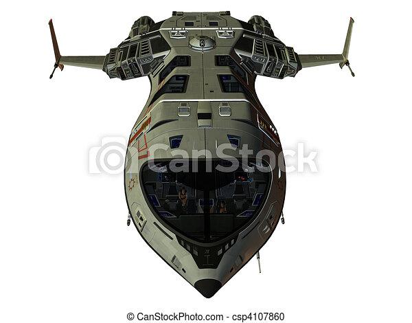 Futuristic Spaceship - csp4107860