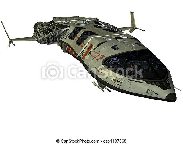 Illustration de vaisseau spatial futuriste 3d rendre - Dessin vaisseau spatial ...