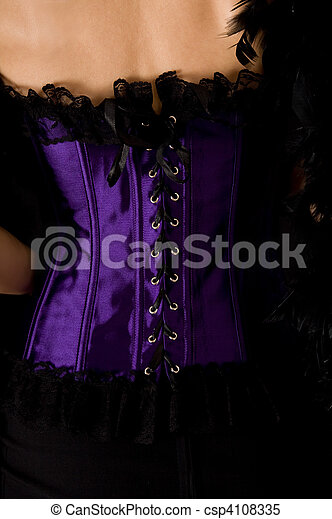 Close-up shot of purple corset - csp4108335