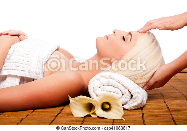 Relaxation pampering massage spa - csp41083817
