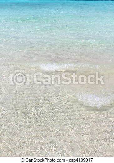 turquioise perfect tropical beach white sand - csp4109017