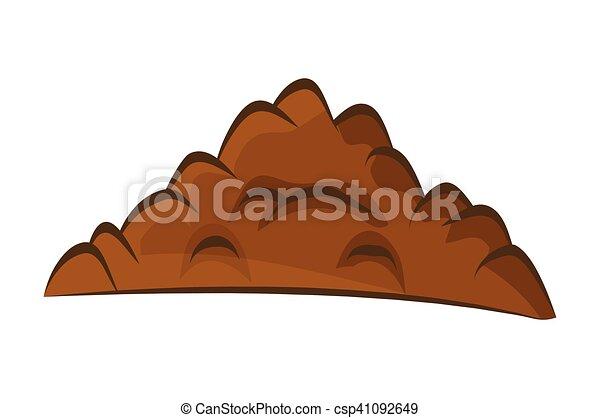Vecteur eps de terrestre sol isol illustration for Suelo organico dibujo animado
