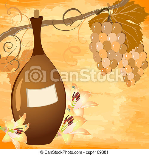 wine bottle - csp4109381
