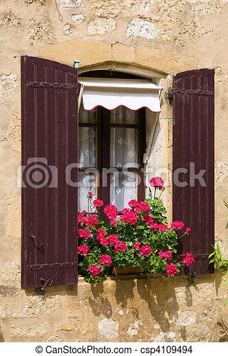 Beautiful Mediterranean window - csp4109494