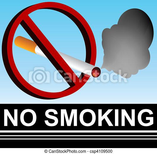 No Smoking Sign - csp4109500