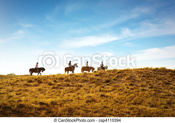 horseback riding - csp4110394