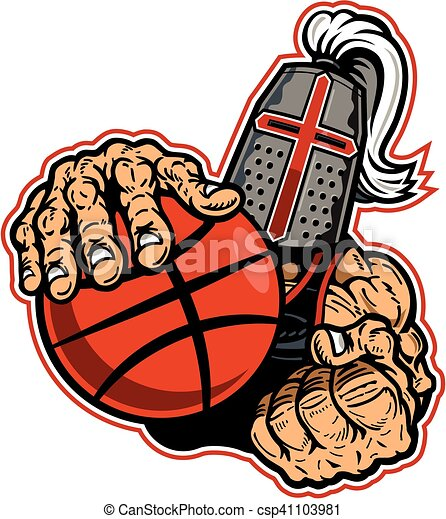 Vector of crusaders basketball team design with mascot ...