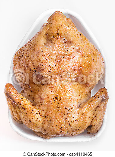 whole chicken on a white background - csp4110465