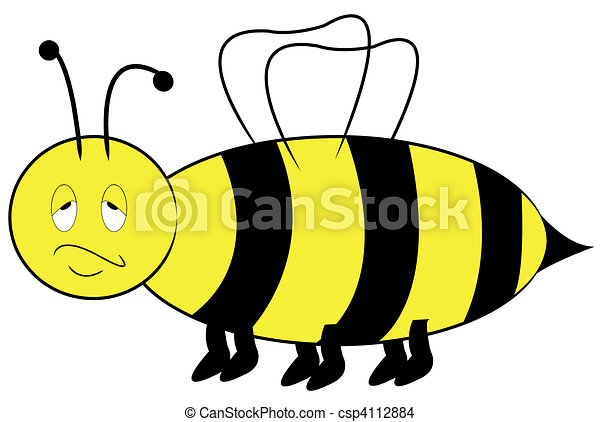 bee with annoyed bored expression  - csp4112884