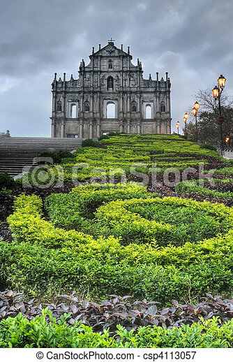 Macao landmark - csp4113057