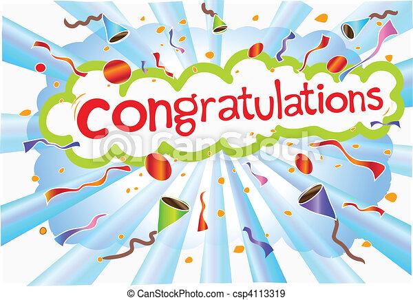 congratulations wording - csp4113319