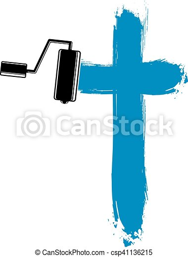 Vector Clip Art of Religious cross vector simple illustration ...