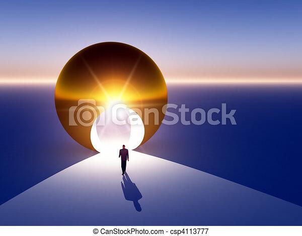 Abstract - Doorway to Golden Opportunity - csp4113777