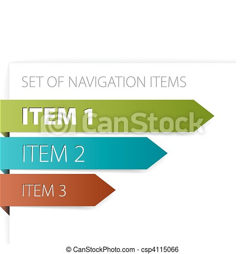 Paper arrows - modern navigation items - csp4115066