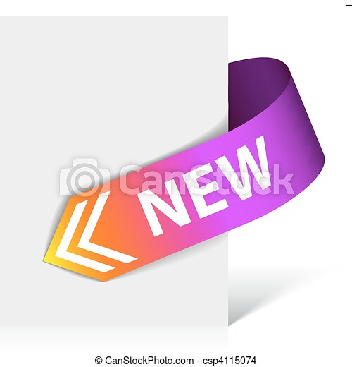 New purple corner ribbon - csp4115074