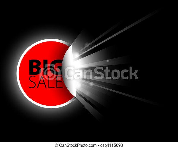 sale label with surprise - csp4115093