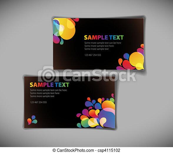 modern business card templates - csp4115102