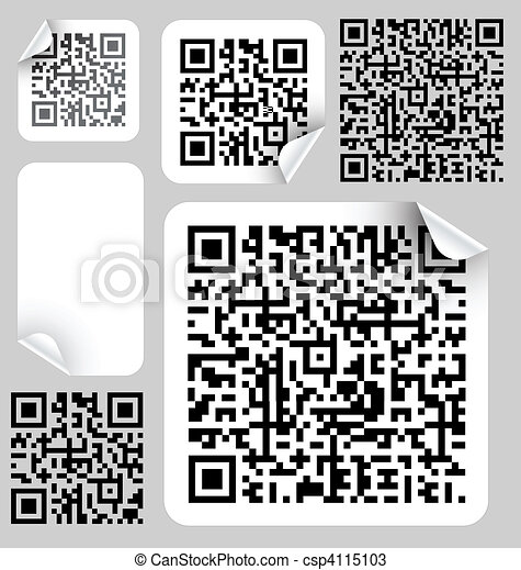 Set of labels with qr codes - csp4115103