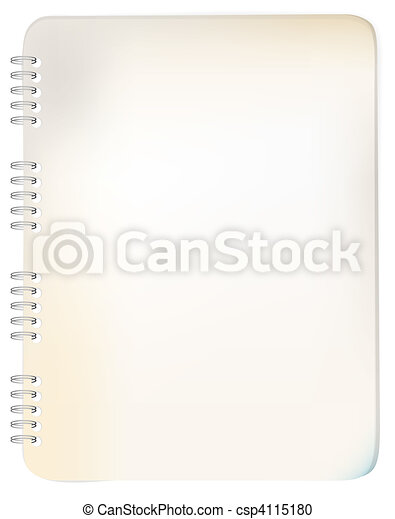 Old grunge spiral bound notepad - csp4115180