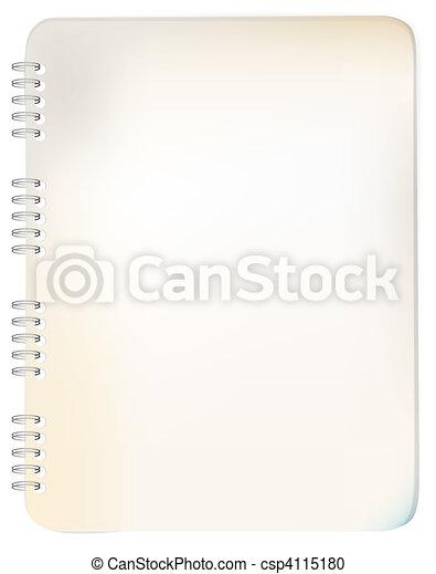 Old grunge spiral bound notepad - csp4115180